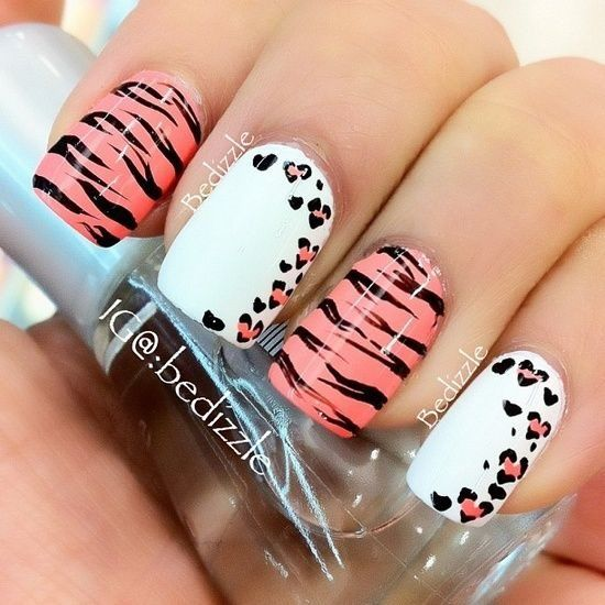 Nails Design Ideas 23 sweet spring nail art ideas designs for 2016 pretty designs Animal Print Nail Design Idea