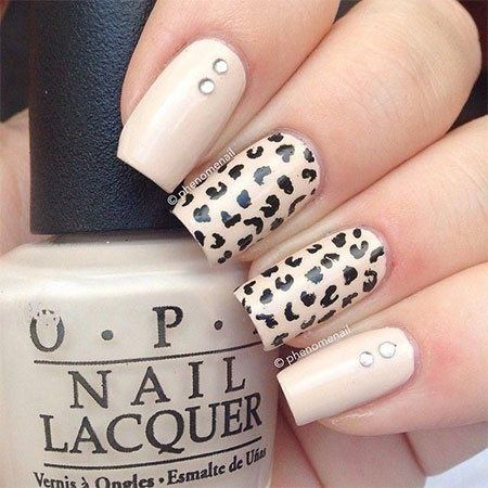Animal Print Summer Nail Art Design