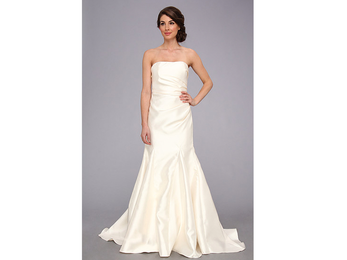 Badgley Mischka Satin Strapless Gown, $278
