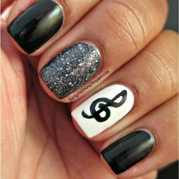 18 Great Nail Designs for Short Nails , Pretty Designs
