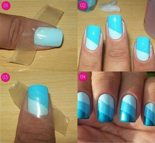Blue Ombre Nail Design Tutorial