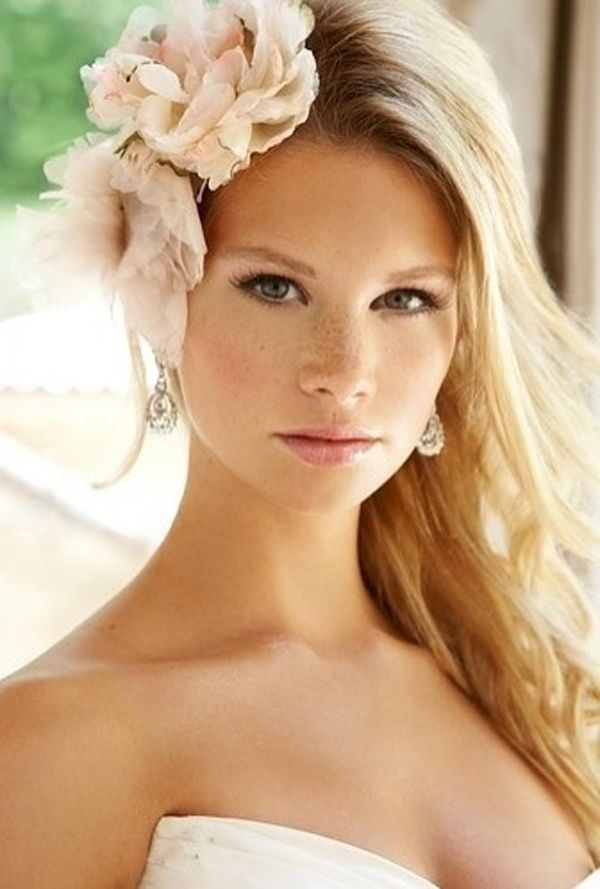 Boho Chic Half Up Down Wedding Hairstyle