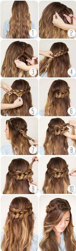 Messy Braid Hairstyle Tutorial for Schoolgirls