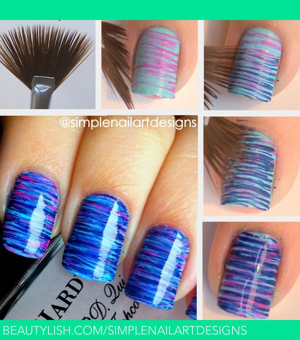 22 super easy nail art designs and ideas for 2018 pretty designs brush nail art design prinsesfo Gallery