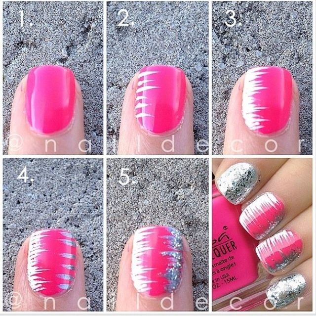 25 easy step by step nail tutorials for girls pretty designs for Avon nail decoration brush
