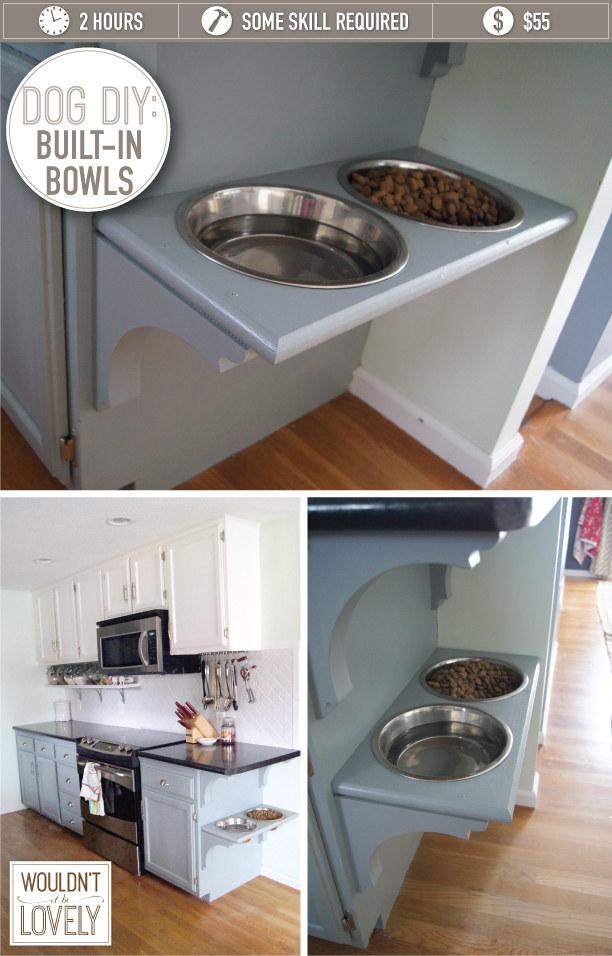 20 Useful DIY Pet Food Stations - Pretty Designs