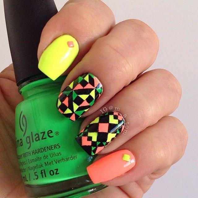 Checkered Nail Art Design