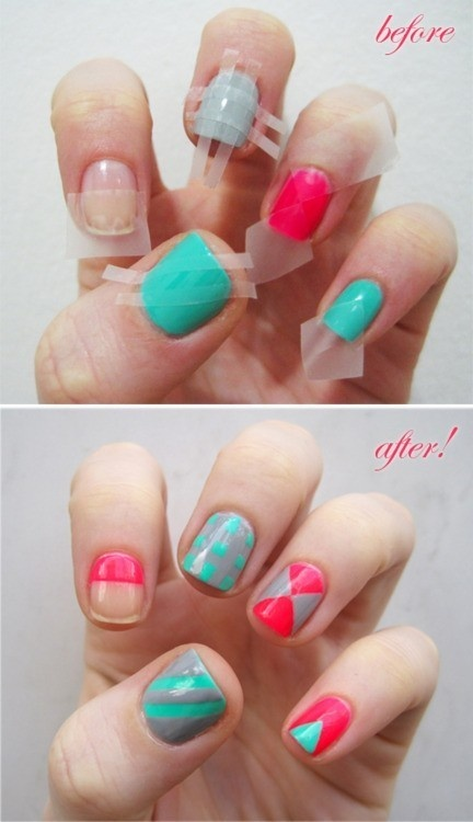 Checkered Nail Art Design