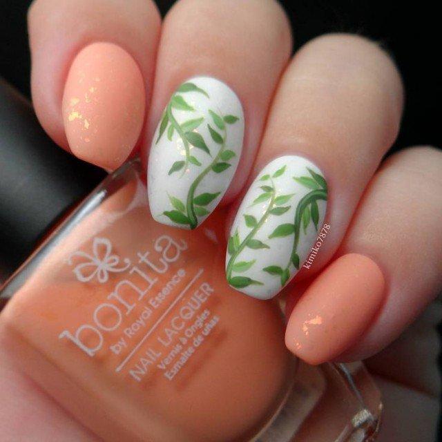 Coral Nail Art Design