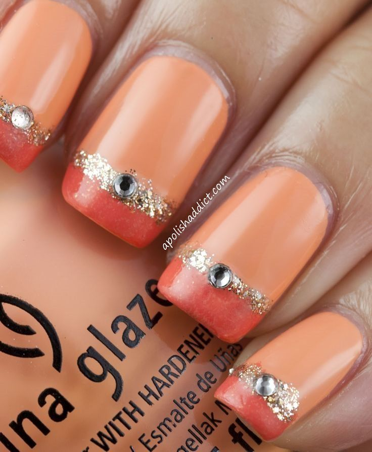 Coral Nail Design Idea for 2017