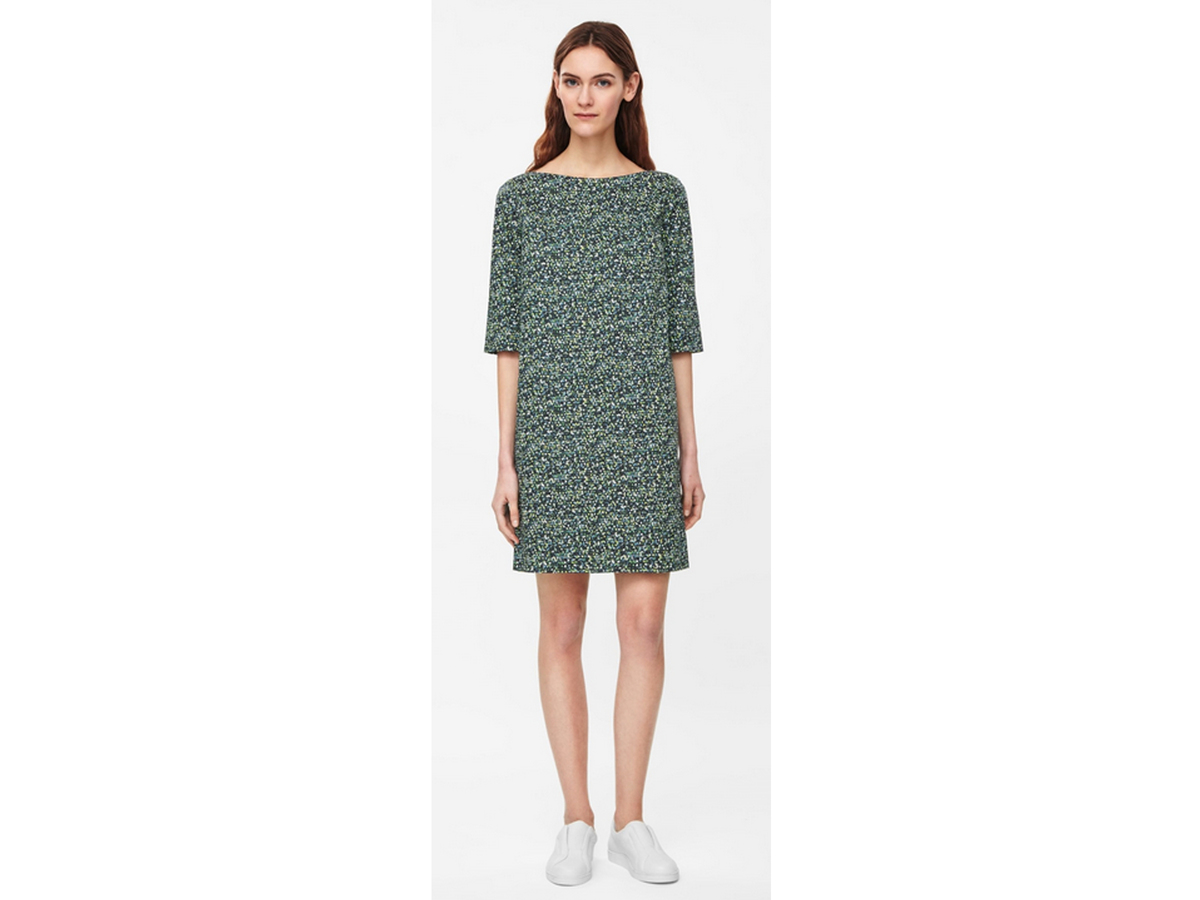 Cos Printed Cotton Dress, $125
