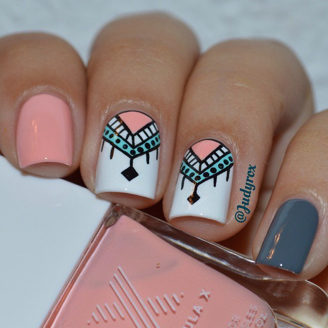 Cute Aztec Nail Art Design - 20 Creative Manicure Ideas - Pretty Designs
