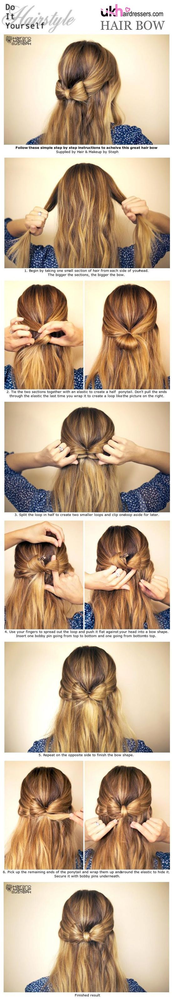 Cute Bow Hairstyle Tutorial