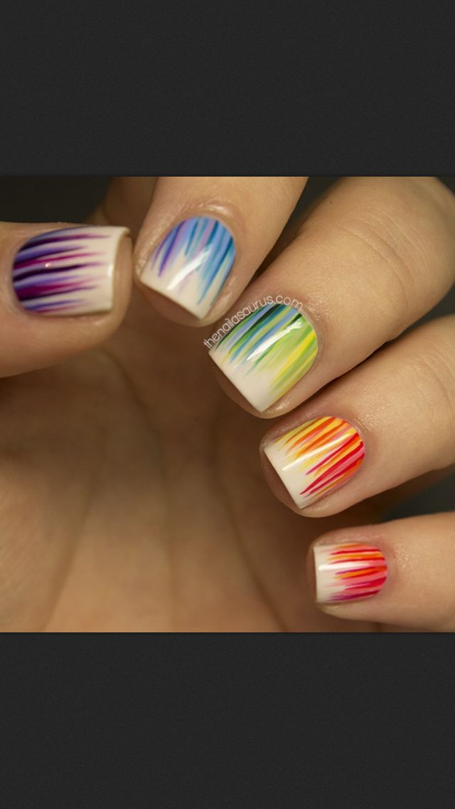 18 great nail designs for short nails pretty designs cute colorful nail design for short nails prinsesfo Gallery