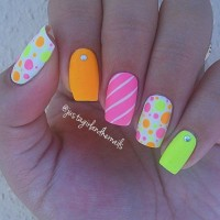 Cute Summer Nail Art Design