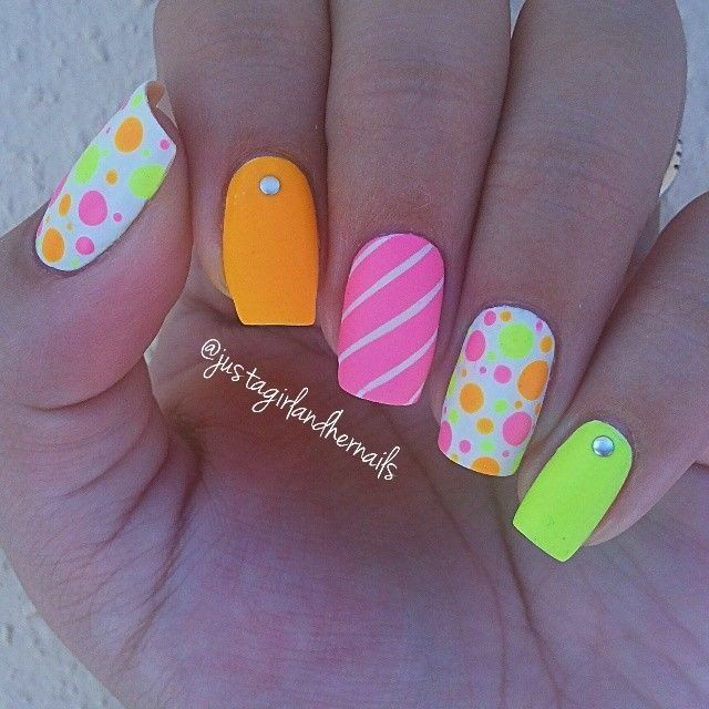 Cute Summer Nail Art Design - 15 Cute Summer Nail Art Ideas For 2016 - Pretty Designs