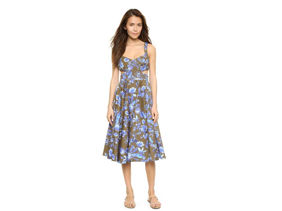 Cynthia Rowley Cutout Floral Dress, $448