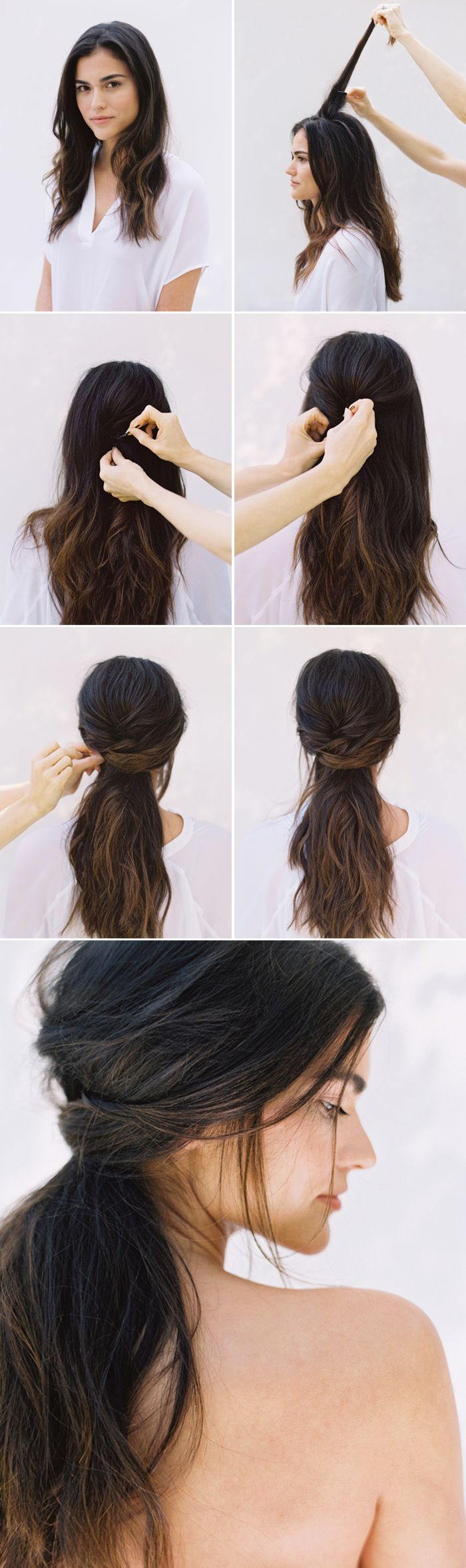DIY Half Up Half Down Wedding Hairstyle