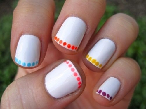 Dot Tipped Nail Art Design