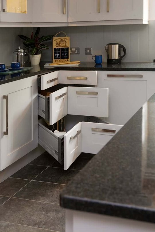 Drawers on the Corners of Your Kitchen