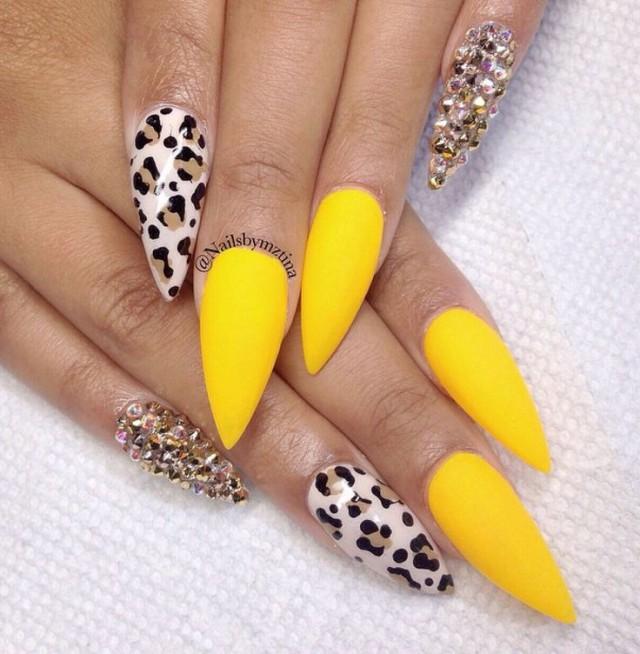 Embellished Nail Art Design