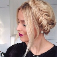 Fishtail Braid Bun Hairstyle