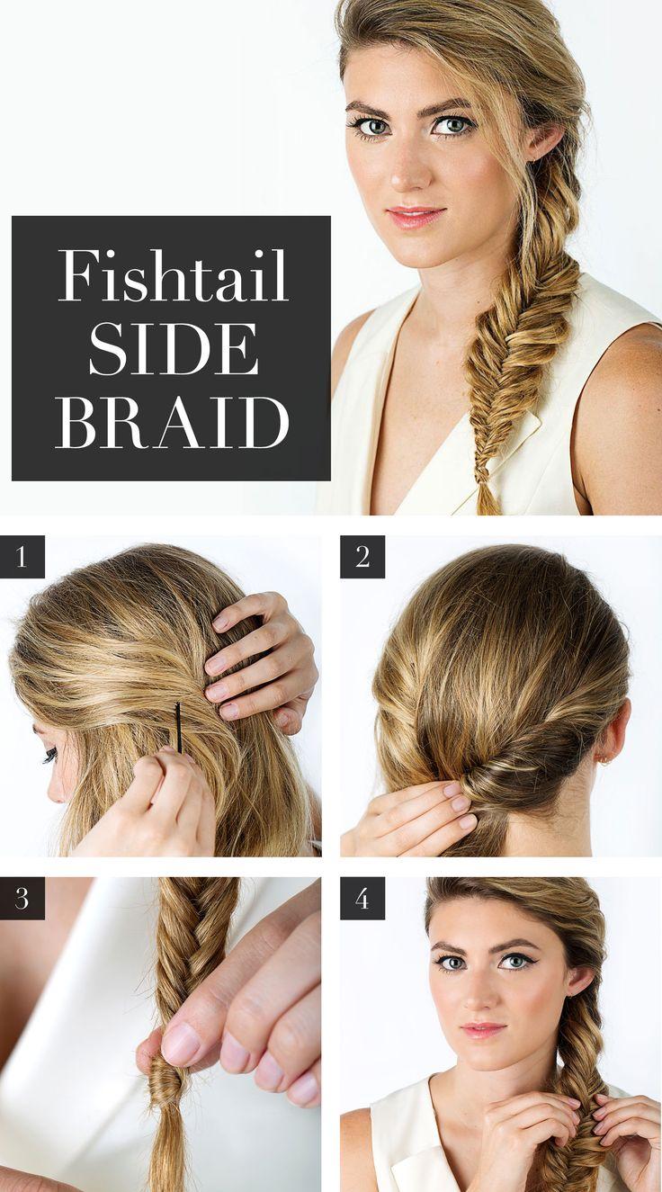 Fishtail Side Braid Hairstyle Tutorial