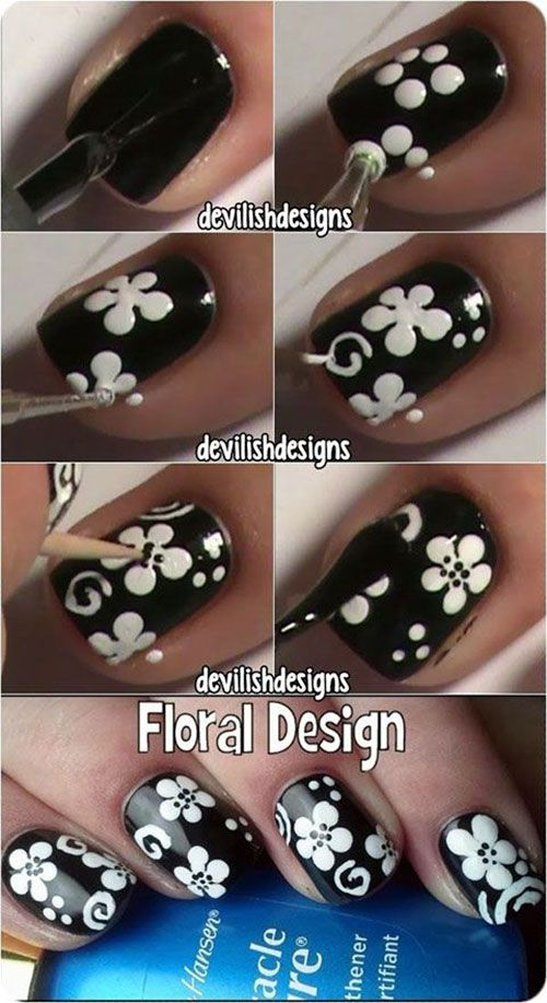 Floral Nail Design Tutorial