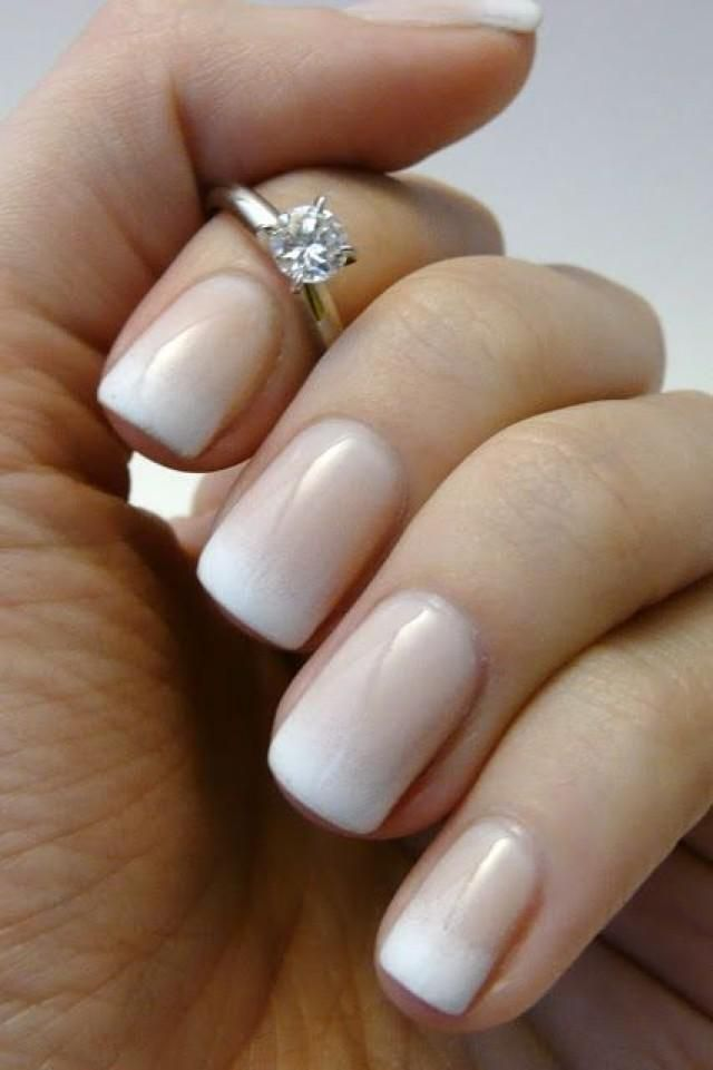 French Bridal Nail Idea