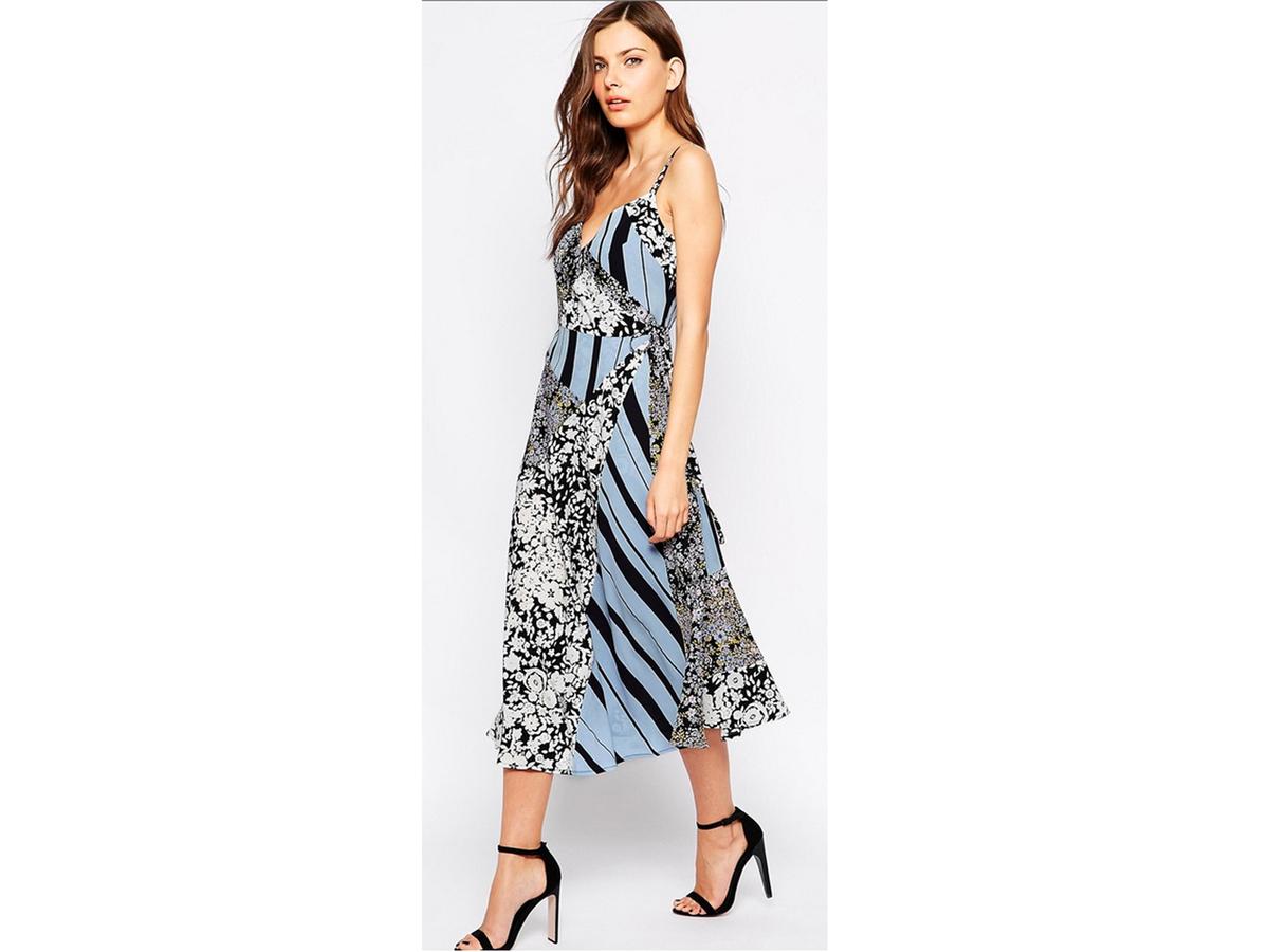 French Connection Freida Flower Wrap Dress, $235