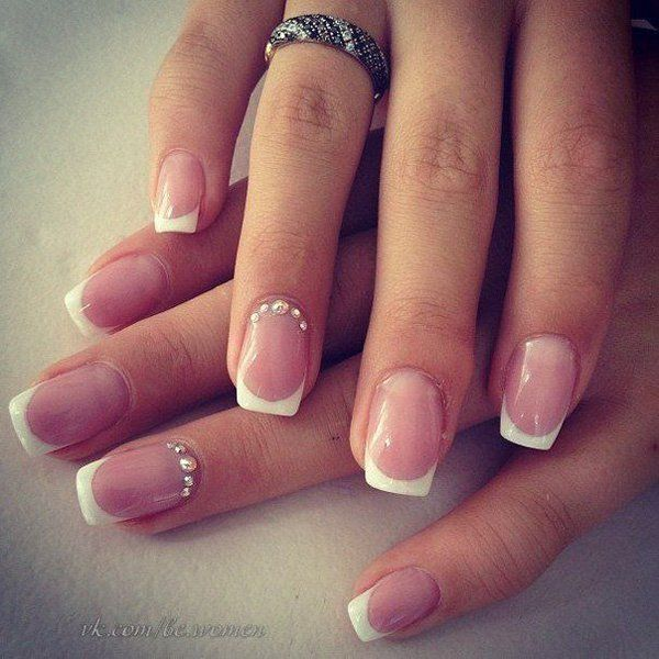 French Manicure for Wedding Nail Ideas