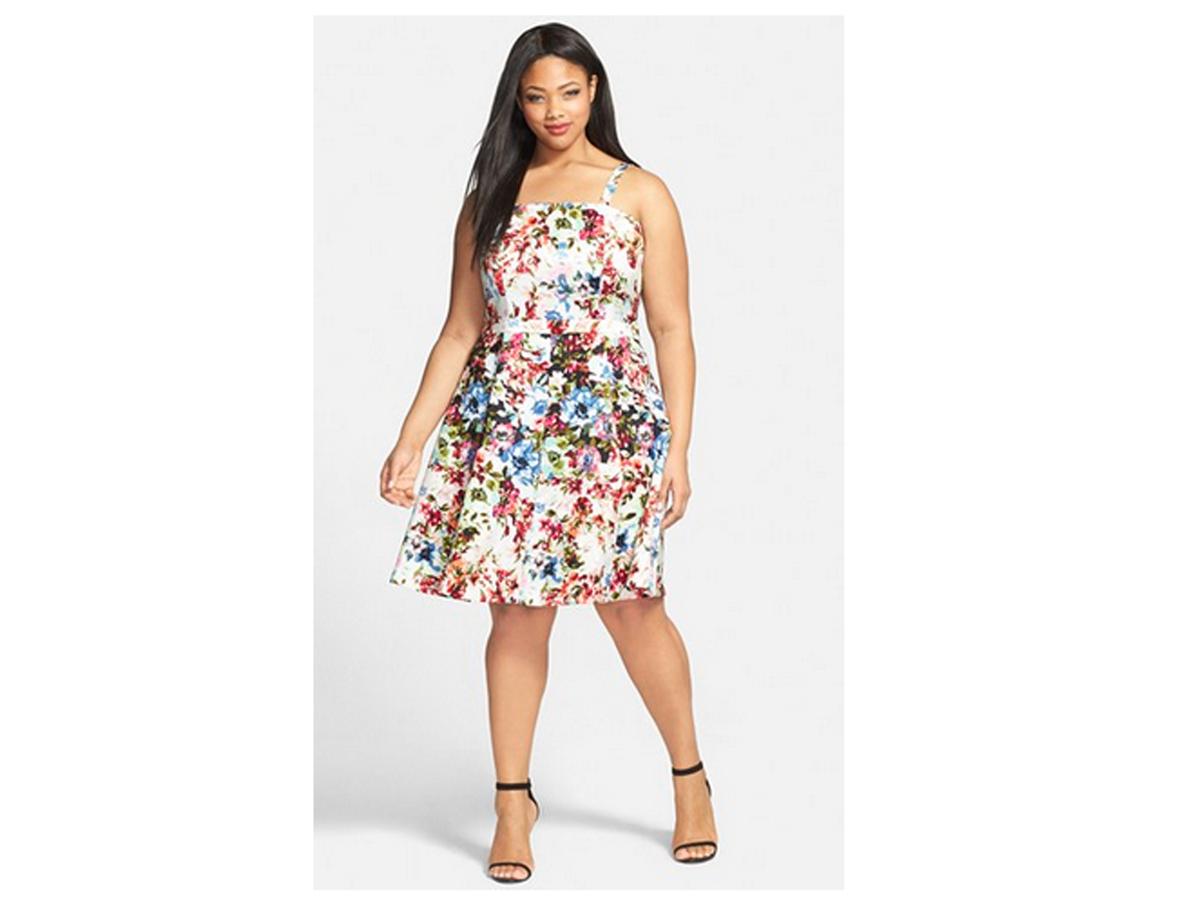 Gabby Skye Two-Piece Floral Print Dress, $70