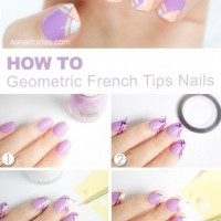 Geometric French Tips Nail Tutorial