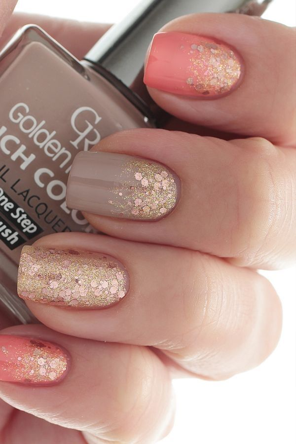 Nail Designs Ideas 25 best ideas about pink nail designs on pinterest pink nails acrylic nail designs and glitter nails Glittery Nail Design Idea