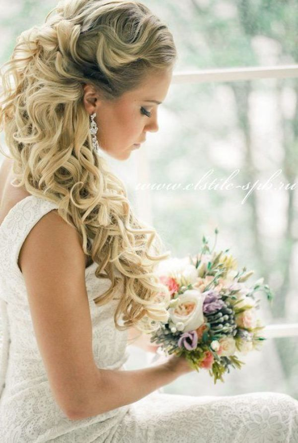 Half Up Half Down Wedding Hairstyles For 2016 Pretty Designs