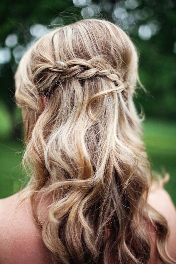 Wedding Hairstyles For Long Hair Half Up Down With Braids