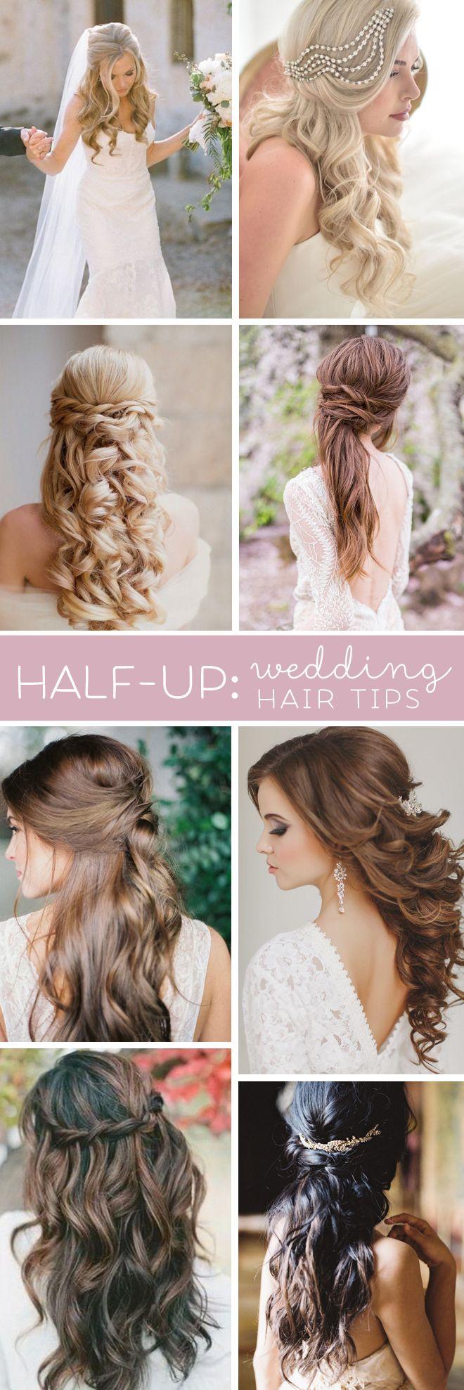 Superb 23 Stunning Half Up Half Down Wedding Hairstyles For 2016 Pretty Short Hairstyles Gunalazisus