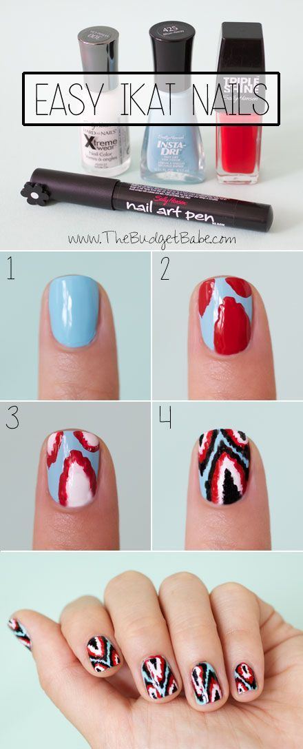IKAT Nail Design Tutorial