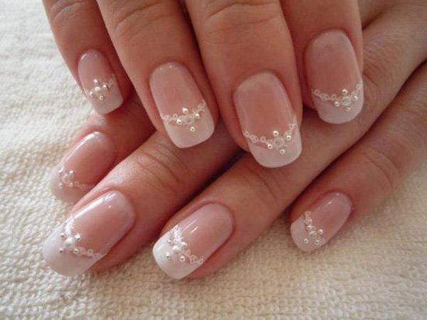 Lacey Wedding Nail Idea