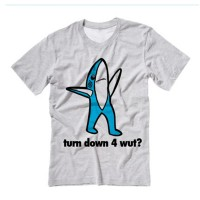 Left SHARK Turn Down 4 Wut Tee Shirt, $16