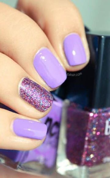 Light Purple Summer Nail Design