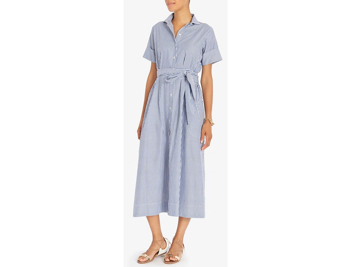 Lisa Marie Fernandez Belted Stripe Shirtdress, $495