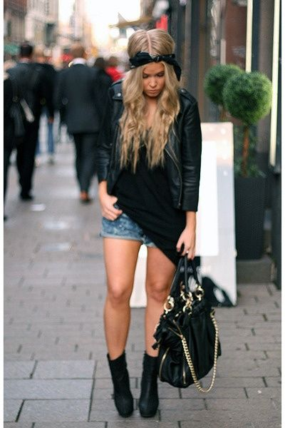 Long Blond Hair with a Bandana
