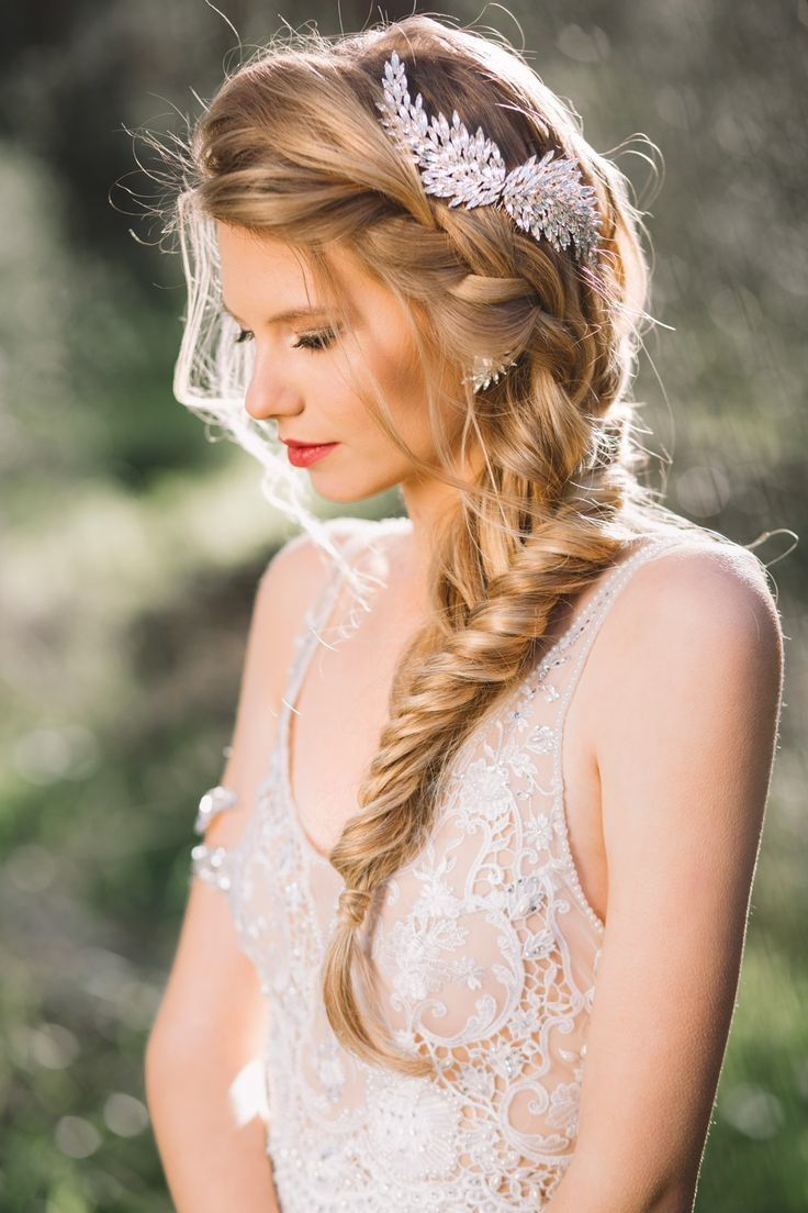 Loose Fishtail Braid for Wedding Hairstyles