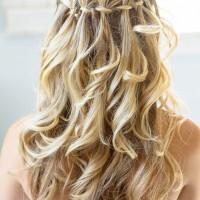 Loose Waterfall Braid for Blond Hair