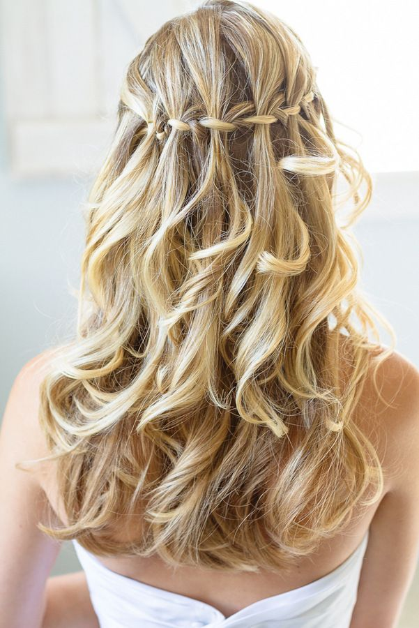 Loose Waterfall Braid for Blond Hair