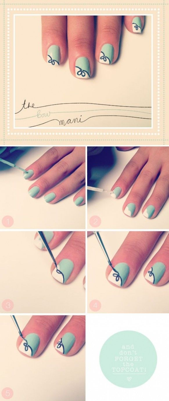 Lovely Bow Nail Design Tutorial