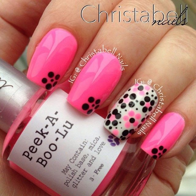 Lovely Pink Nail Art Design - 15 Cute Summer Nail Art Ideas For 2016 - Pretty Designs
