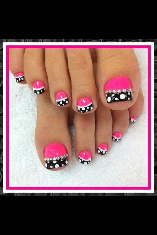 Lovely Toe Nail Design - 20 Adorable Easy Toe Nail Designs 2017 - Pretty Simple Toenail Art