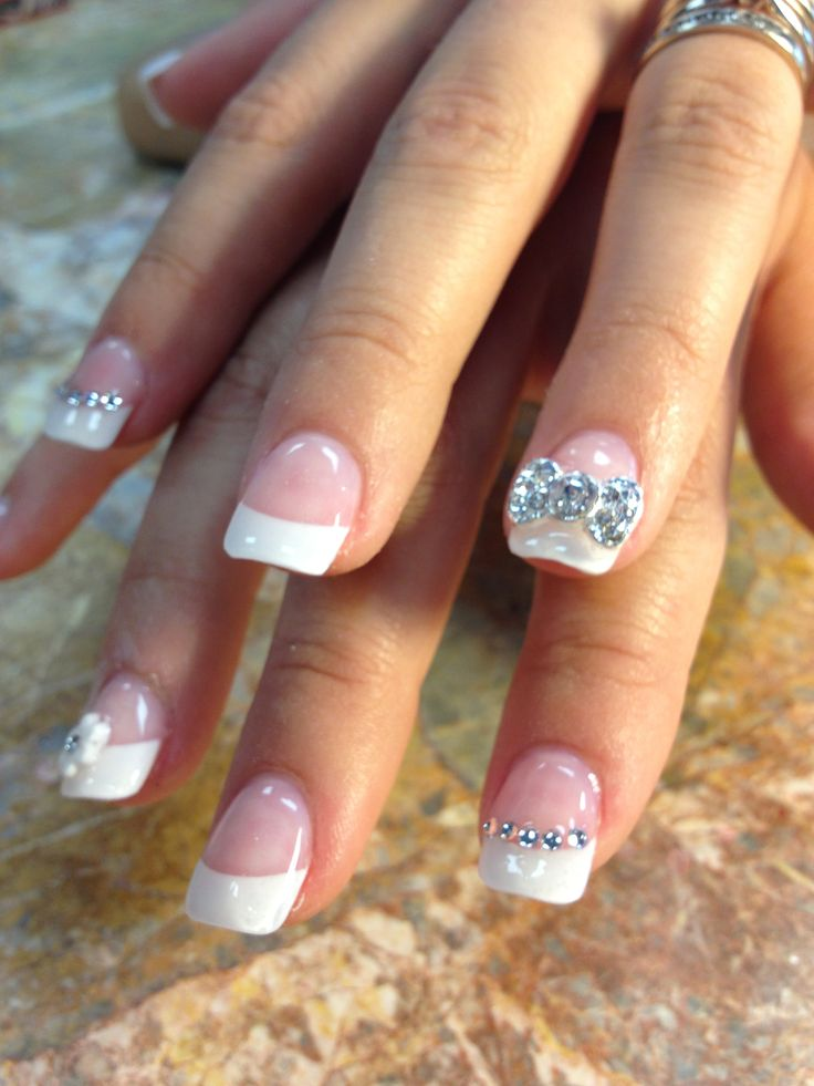 Lovely Wedding Nail Idea